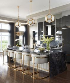 Mix and Chic: Inside a glam, stylish and sophisticated Saskatoon penthouse! Mix and Chic: Inside a glam, stylish and sophisticated Saskatoon penthouse! Mix and Chic: Inside a glam, stylish and sophisticated Saskatoon penthouse! Home Bar Decor, Retro Home Decor, Home Decor Kitchen, Interior Design Kitchen, Kitchen Ideas, Bar Interior, Apartment Kitchen, Art Deco Kitchen, Apartment Ideas