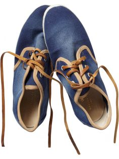Canvas shoe with leather laces - Women - Scotch & Soda Online Shop ($100-200) - Svpply