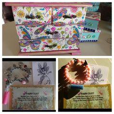 "Having Fairy Fun Serviette Decoupaged Jewelery Box.. Instagram: shabby rococo Fairy ""Charm'ing"" Bracelet Fairy Dust, Rococo, Pretty Flowers, Sprinkles, Decoupage, Jewelery, Shabby, Charmed, Box"