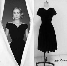 Nueva negro elegante de las mujeres vestido de verano vestidos de rockabilly pin up 50 s 60 s de la vendimia de terciopelo partido vestidos vestidos en Vestidos de Ropa y Accesorios de las mujeres en AliExpress.com | Alibaba Group