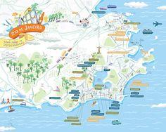 Rio de Janeiro Shopping spots - Poster to Veja Magazine « nik neves - illustration
