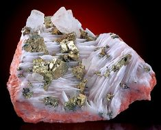 Strontianite Barite looks like a rushing river! Minerals And Gemstones, Rocks And Minerals, Natural Crystals, Stones And Crystals, Gem Stones, Beautiful Rocks, Mineral Stone, Rocks And Gems, Earth