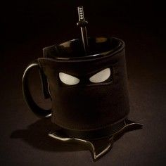 Ninja Tasse mit Löffel & Untersetzer | #tee #kaffee #teetasse #kaffeetasse #teatime #coffeetime