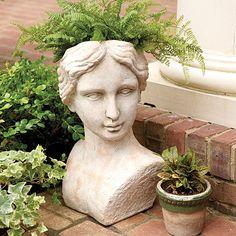 Evelyn Terra Cotta Bust Planter