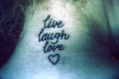 live love laugh pictures | 35 Awesome Live Laugh Love Tattoos | CreativeFan
