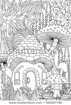 Find Landscape Coloring Page Stock Vectors And Millions Of Other Royalty Free Photos Illustrations In The Shutterstock Collection