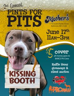 Pints for Pits to benefit BARCS Pit Crew! June 17th 11am-3pm!
