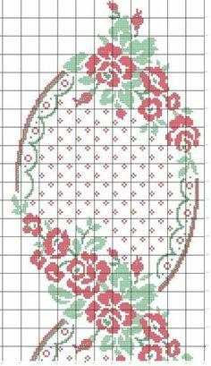 Kira scheme crochet: Scheme crochet no. Cross Stitch Borders, Cross Stitch Rose, Cross Stitch Flowers, Cross Stitch Charts, Cross Stitch Designs, Cross Stitching, Cross Stitch Embroidery, Cross Stitch Patterns, Crochet Chart
