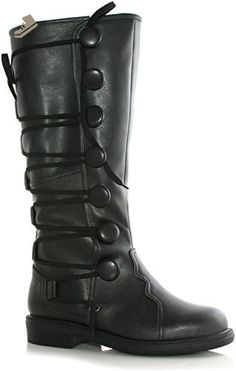 Renaissance or Steampunk Black Boots Mens in Footwear: Men's black boots  will complete many renaissance or steampunk costumes.