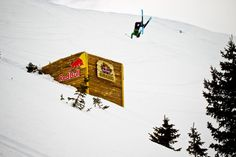 Rachael Burks flipping the Castle jump at Red Bull Cold Rush Erik Seo/Red Bull Media House North America, Inc.