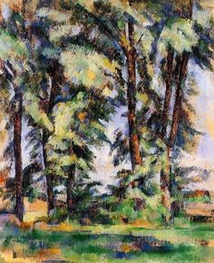 Paul Cezanne-Large Trees at Jas de Bouffan