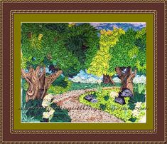 A Journey into Quilling & Paper Crafting: Quilled Nature Landscape Picture - A Walk Through The Forest