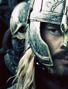 Karl Urban as Eomer in The Lord of the rings: the two towers film.