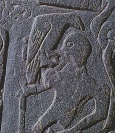 Raven carving from the Isle of Man, 9th century.