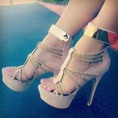 Rose gold sandal heels cute -  #gold,  herls -  #sandal