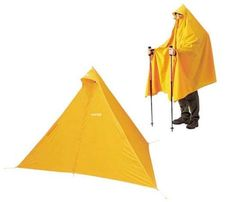 Tired of lugging a tent around on your back? But with the tent poncho at least you're wearing it! That's right folks, a poncho that turns into a tent. Night Vale, Camping Shelters, Glow Cloud, Moomin Valley, The Moon Is Beautiful, Tent Design, Cool Tents, What Do You Mean, Fandoms