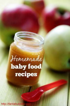 Homemade Baby Food Recipes.  Love the easy concept of starting with the basics, and adding extras.  Great recipe combinations! http://fantabulosity.com