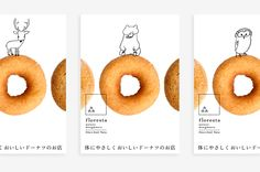 """floresta"" is a dounuts company founded in Nara, Japan in is particular about using natural ingredients. Food Graphic Design, Food Poster Design, Menu Design, Love Design, Graphic Design Illustration, Nara, Catalog Printing, Cake Logo Design, Layout"
