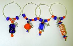 Gator Wine Glass Charms