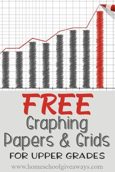 FREE Graphing Papers and Grids for Upper Grades - Homeschool Giveaways Free Homeschool Curriculum, Curriculum Planning, Homeschool High School, Homeschooling Resources, Free Teaching Resources, Teaching Math, Free Math, Graph Paper, Home Schooling