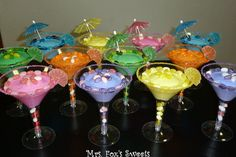 Cupcake Martini. Uses melted frosting and pre-baked cupcakes. Great idea for a party.