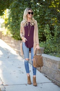 Fall cardigan outfit my style outfits cardigan outfits fall. Fashion Mode, Look Fashion, Autumn Fashion, Womens Fashion, Fall Fashion Trends, Fashion Styles, Casual Fall Outfits, Fall Winter Outfits, Summer Outfits