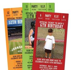 15 Baseball TICKET Party Invitations for Adult by PaisleyPrintsEtc, $23.00