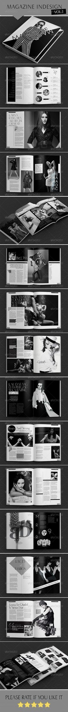 Indesign B/W Magazine - Magazines Print Templates
