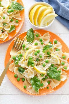 You will love how light and tasty this Springy Lemon Bow Tie Salad is with tender peas, fresh basil, bow tie shaped pasta, tangy parmesan cheese and spritzed with freshly squeezed lemon juice and tossed in olive oil. It makes a great dish to any meal and can be whipped up in no time! @cookfrontburner