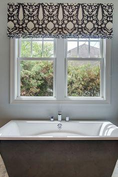 Black Bathtub. Black and white Bathtub. Black Bathtub. Black Bathtub #BlackBathtub Grace Hill Design. Gordon James Construction.
