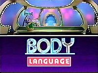 Body Language - (1984-86). Host: Tom Kennedy. Announcers: Johnny Olson (Until Death), Gene Wood, Bob Hilton. This is a pantomime game.
