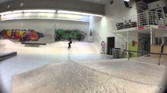 Having fun at the Skateboard Hall in Kelloniemi, Kuopio.