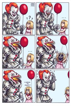 In Russia Pennywise gets scared and confused.