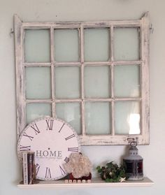Anitque Colonial Window Repurposed into A Wall Hanging with OR without A Shelf  - Tampa Bay Area