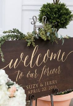 Welcome to Our Forever Wedding Sign Large by SweetNCCollective