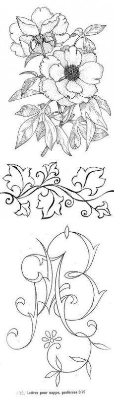 Трафареты узоров, скачать бесплатно. | Винтажные цветочные узоры.Vintage floral patterns.