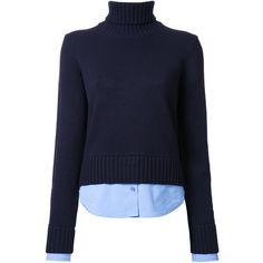 Michael Kors roll neck jumper ($2,005) ❤ liked on Polyvore featuring tops, sweaters, blue, michael kors, rollneck sweaters, cashmere tops, roll neck jumper and blue top