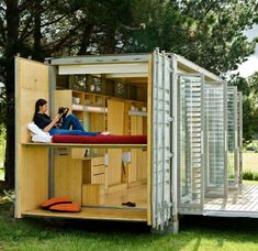 Container homes: Portable shipping container holiday home, New Zealand