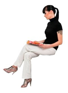 cutout woman sitting