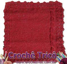 Crochê Tricô: Crochê Tricô - Tapete Vermelho em Barbante