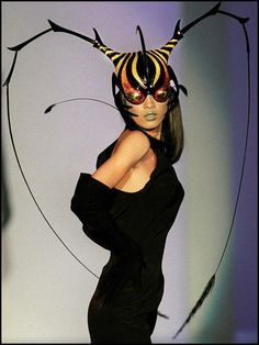 """The inspiration for some designers is easily recognizable. Thierry Mugler's """"animal"""" spring/summer collection, 1997."""
