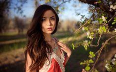 Hämta bilder Savannah Comejo, photomodels, skönhet, brunett, flickor