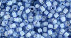 TR-08-933 Round 8/0 : Inside-Color Lt. Sapphire/White Lined