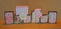 Easter/Easter Blocks/Spring Blocks/Easter by Tweetfeathers on Etsy, $39.50