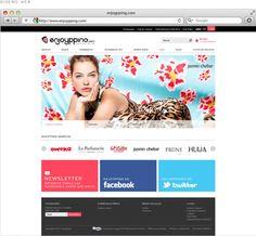 enjoypping.com by Adriana Chionetti, via Behance