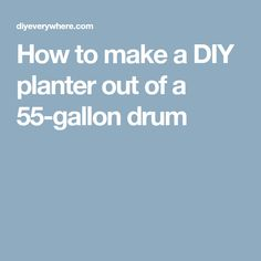 How to make a DIY planter out of a 55-gallon drum