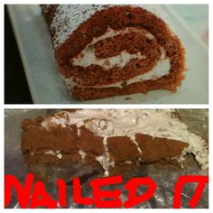 Lightened pumpkin roll for Thanksgiving? NAILED IT. Funny recipe fails.