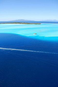 Lagon Bora Bora Vue du Ciel by xaviermaire, via Flickr