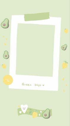 Avocado is green Polaroid Picture Frame, Polaroid Pictures, Polaroids, Framed Wallpaper, Graphic Wallpaper, Creative Instagram Stories, Instagram Story Ideas, Instagram Frame Template, Photo Collage Template