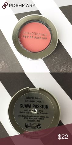 Bare Minerals POP OF PASSION GUAVA Cream Blush FS JUST ARRIVED!   BareMinerals by Bare Escentuals   ❤ guava ❤ CONDITION: New / Never opened, used or swatched / Unboxed  What is it: Full Size Pip of Passion - Guava  See photo to confirm name of blush.  ❌Trades❌ ⚡️We ship lightening fast⚡️ Discounts with bundles  bareMinerals Makeup Blush
